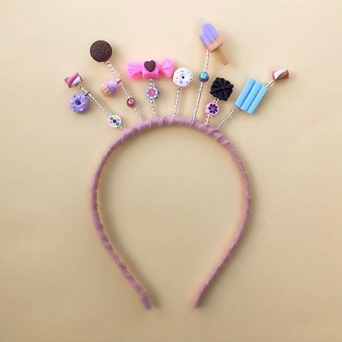 Tiara Doçura moda feminina acessórios para meninas moda infantil enfeite cabelo enfeite de cabeça acessório de cabeça arco