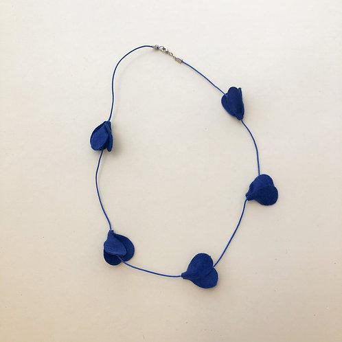 Colar Tulipa Azul Marinho moda feminina acessórios para meninas moda infantil
