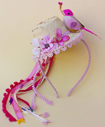 tiara festa junina chapéu