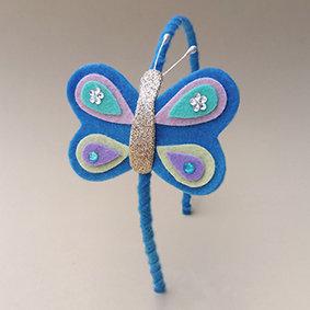 TiaraBorboleta Azul moda feminina infantil acessórios para meninas estilo boneca japonesa