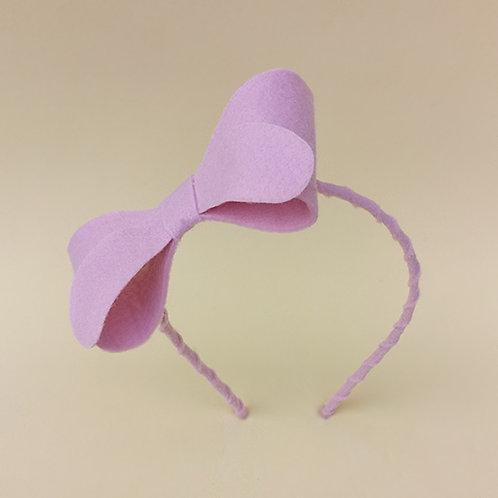Tiara Laço Rosa Claro acessórios para meninas moda infantil feminina