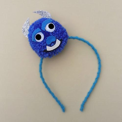 Tiara Monstros SA Azul moda feminina moda infantil acessórios para meninas acessórios femininos arco