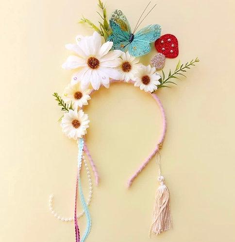 Tiara Cogumelo acessórios para meninas enfeite de cabelo enfeite de cabeça acessório de cabeça arco carnaval fantasia