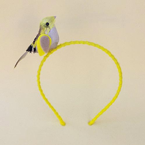 Tiara Passarinho Amarelo acessórios para meninas
