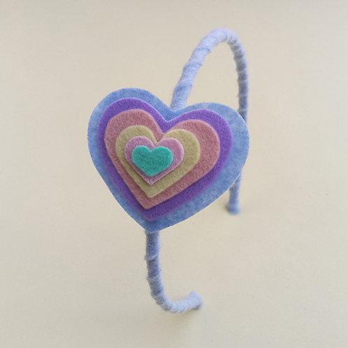 Tiara Coração Azul moda feminina acessórios para meninas moda infantil