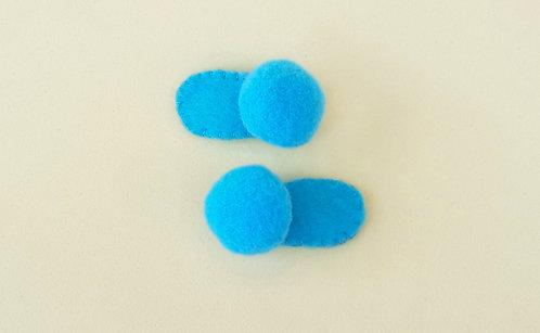 Presilha Tic Tac para Bebê Pompom Azul