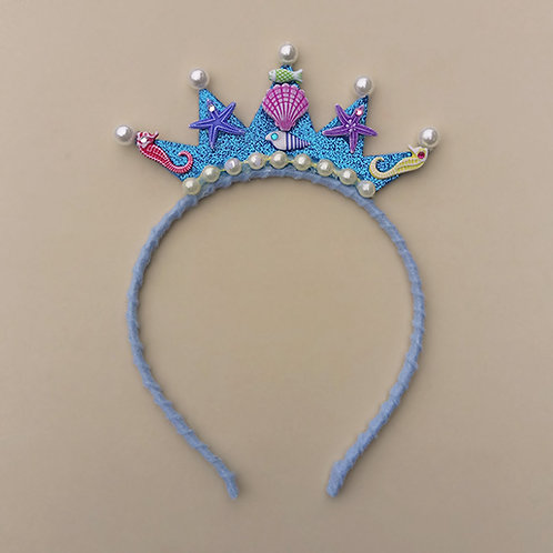 Tiara Sereia Azul moda feminina moda infantil acessórios para meninas acessórios femininos arco