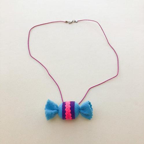 Colar Bala Azul moda feminina acessórios para meninas moda infantil fashion
