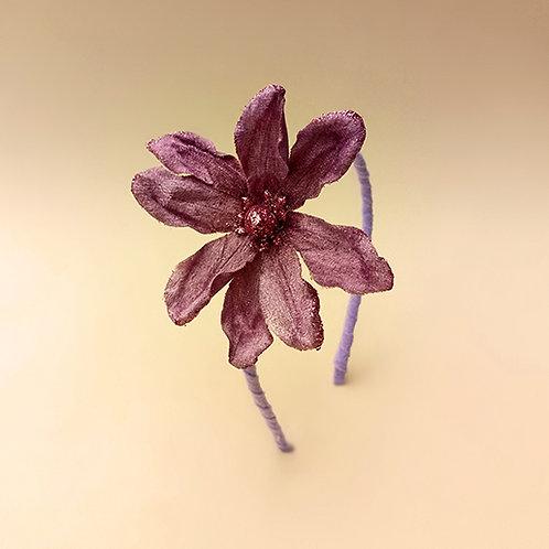 Tiara Flor Lilás moda feminina acessórios para meninas moda infantil tiara natal