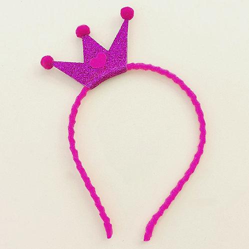 Tiara Coroa Roxa acessórios para meninas