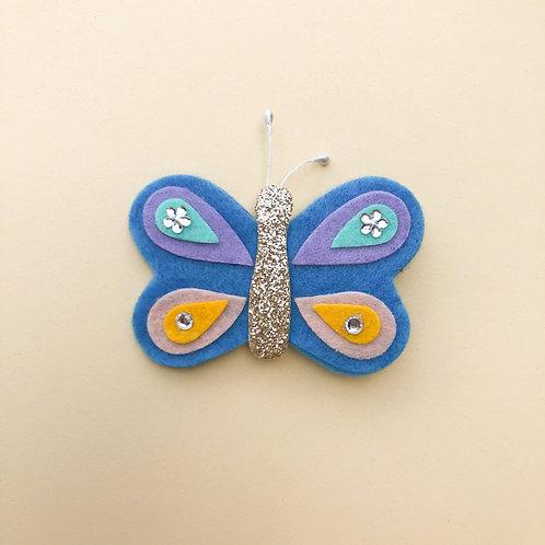 Presilha Borboleta Azul moda feminina acessórios para meninas moda infantil enfeite de cabelo enfeite de cabeça moda fashion