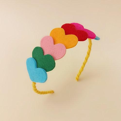 Tiara Corações moda feminina acessórios para meninas moda infantil enfeite de cabelo enfeite de cabeça acessório de cabeça