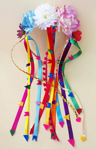 tiara festa junina flores