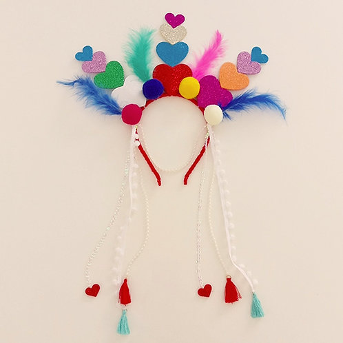 Tiara Carnaval Corações