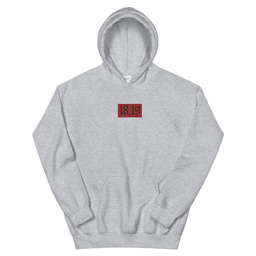 """18.19 Embroidered Red Patch ""Unisex Hoodie"