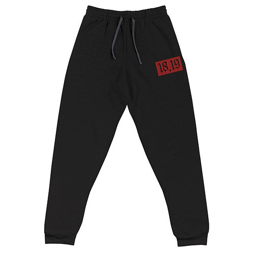 """18.19 Embroidered Red Patch"" Unisex Joggers"