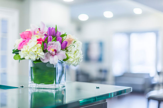Reception Interior with beautiful  flowe