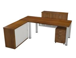 Arizona Desk with Cabinet