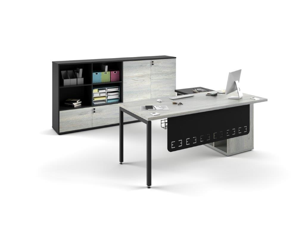Euro 38 Desk with L-Extension