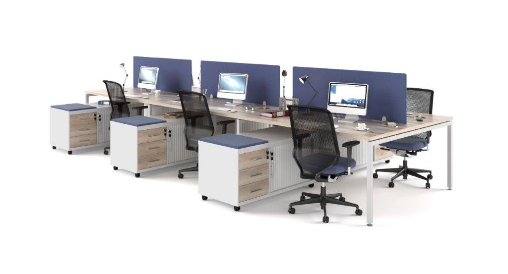 Euro 38 Dual Desking with Mobile Pedenza