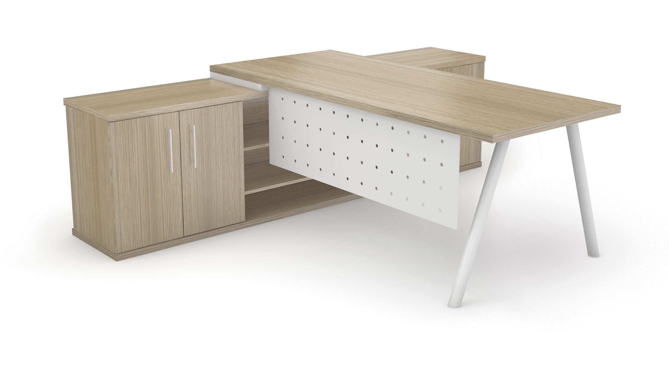 Dakota Desk Unit with Round Legs