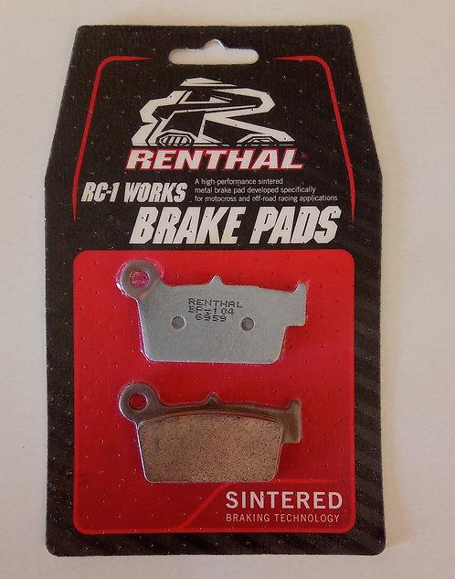 Renthal RC-1 Works Sintered Rear Brake Pads