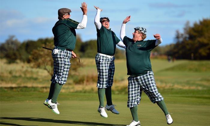 Golfers high fiving... annoying...