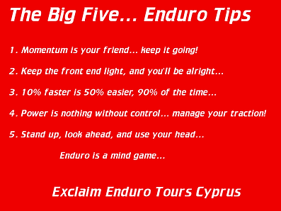 Exclaim Enduro Motorbike Training School Cyprus