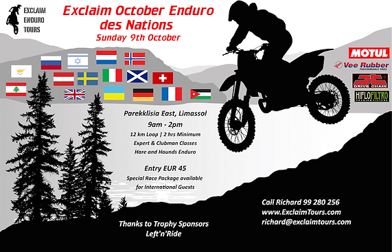 Exclaim October Enduro des Nations Cyprus Europe
