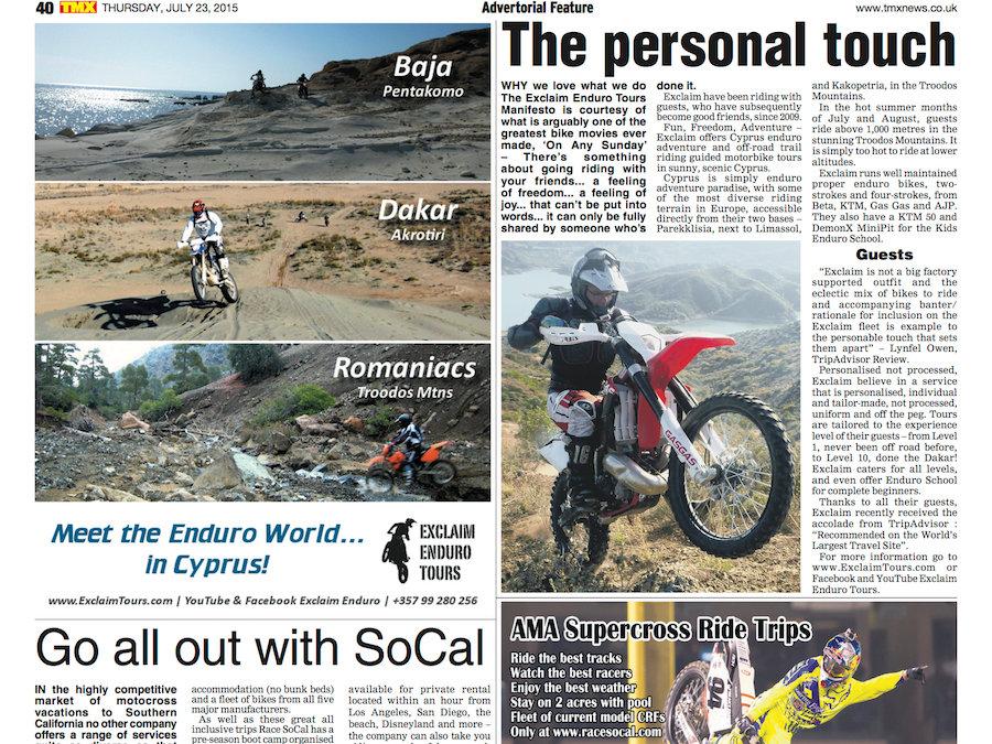 Exclaim Enduro Tours Romaniacs Dakar Baja