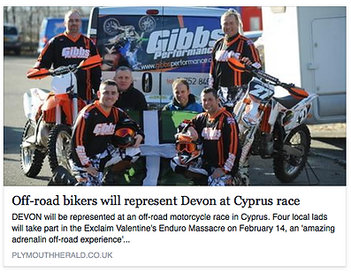 Off-road bikers will represent Devon at Exclaim Enduro in Cyprus