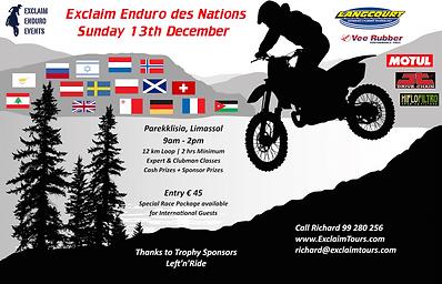 Exclaim Enduro des Nations December 2015 Cyprus