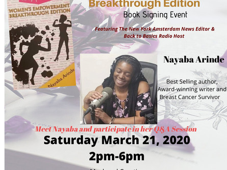 Women's Empowerment Breakthrough Edition Book Signing Event