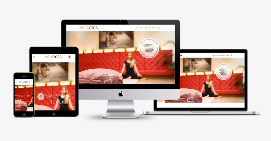 Schöne, funktionale Website basierend auf CMS- System WordPress