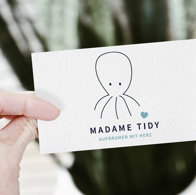 Gestaltung eines Logos für Béa Bänziger, alias Madame Tidy..jpg