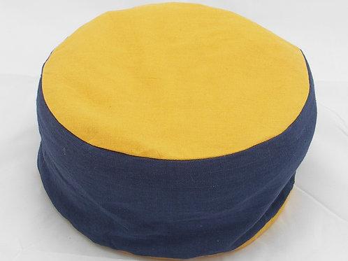 Meditační polštářek kulatý modro - žlutý