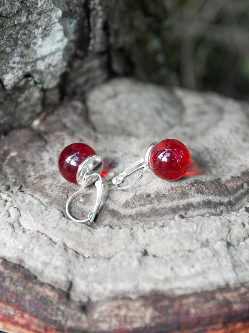 Red Balls Earrings