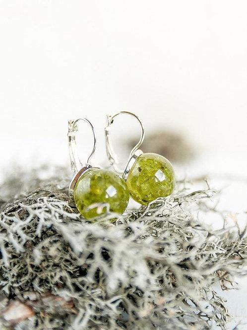 Gooseberry Green Balls Earrings