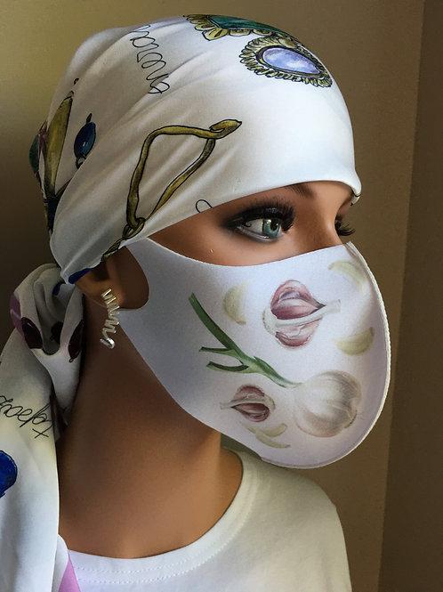 Garlic Decorative Neopene Mask (non-medical)
