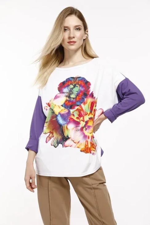 Lilac Flower Blouse