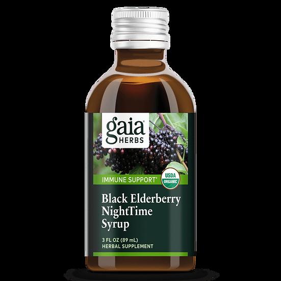 Gaia Black Elderberry NightTime Syrup (3 fl oz)
