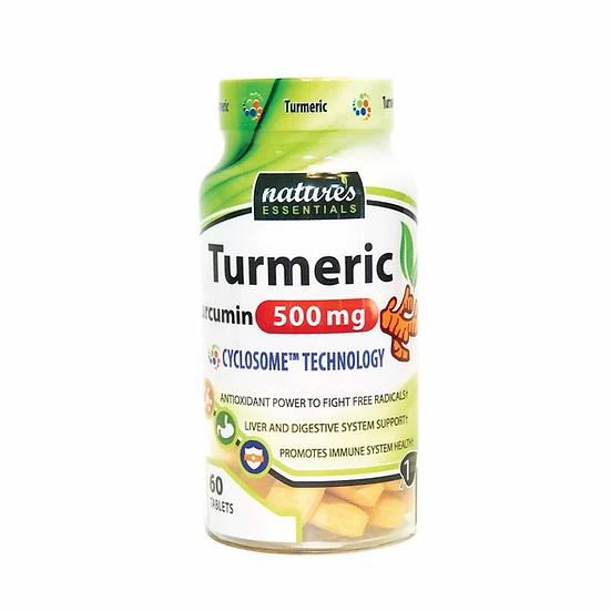 Nature's Essentials Turmeric Curcumin 500 mg (60 tablets)