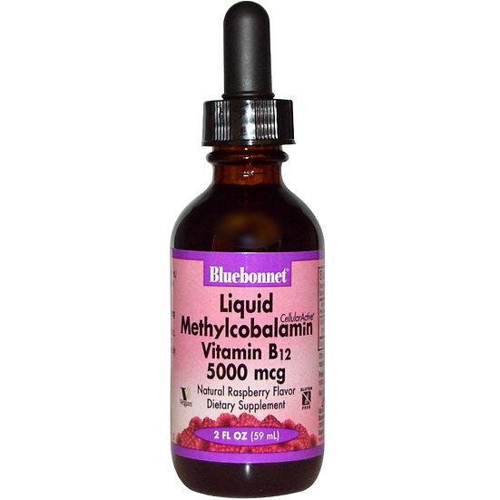 Bluebonnet Nutrition Liquid Vitamin B12 Natural Raspberry (5000 mcg)