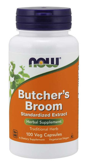 NOW Butcher's Broom (100 Veg Capsules)