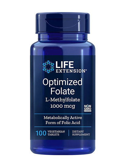 Optimized Folate L-Methylfolate 1000 mcg, 100 vegetarian tablets