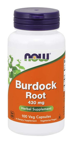 NOW Burdock Root 430 mg (100 Veg Capsules)