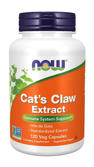 NOW Cat's Claw Extract (120 Veg Capsules)