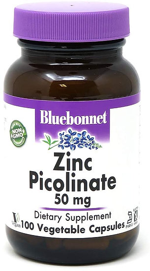 Bluebonnet Zinc Picolinate 50 mg (100 caps)
