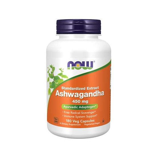 Now Ashwagandha 450 mg (180 Veg Capsules)