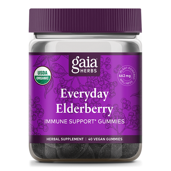 Gaia Everyday Elderberry Gummies